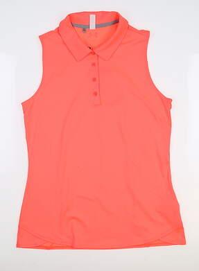 New Womens Under Armour Sleeveless Golf Polo Medium M Pink UW1401 MSRP $55