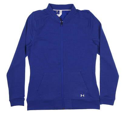 New Womens Under Armour Full Zip Mock Neck Medium M Blue UW1228 MSRP $70