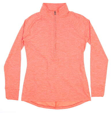 New Womens Under Armour Golf 1/2 Zip Pullover Medium M Orange UW2350 MSRP $70