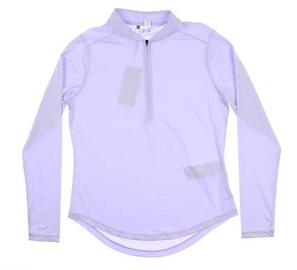 New Womens Under Armour Golf 1/2 Zip Pullover Medium M Purple UW1229 MSRP $70