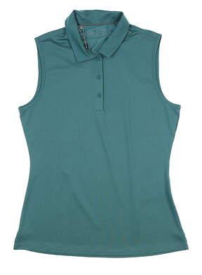 New Womens Under Armour Sleeveless Golf Polo Medium M Green UW0466 MSRP $60