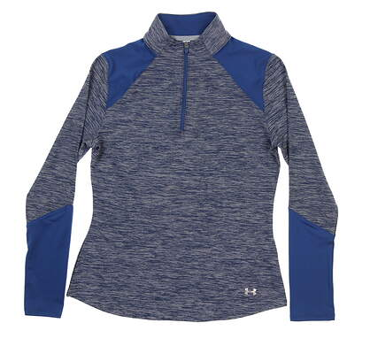 New Womens Under Armour Golf 1/4 Zip Pullover Small S Blue UW1213 MSRP $70
