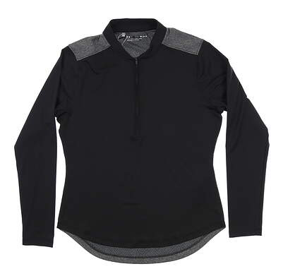 New Mens Under Armour Golf 1/2 Zip Pullover Medium M Black UW1229 MSRP $70