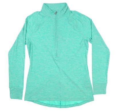 New Womens Under Armour Golf 1/2 Zip Pullover Medium M Green UW2350 MSRP $70