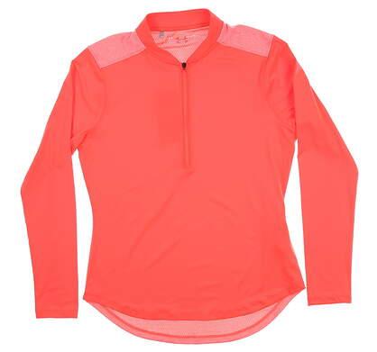 New Womens Under Armour Golf 1/2 Zip Pullover Medium M Red UW1229 MSRP $70