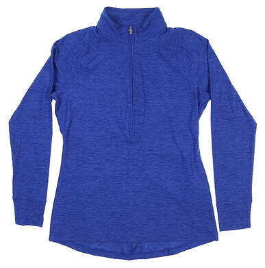 New Womens Under Armour Golf 1/2 Zip Pullover Medium M Blue UW2350 MSRP $70