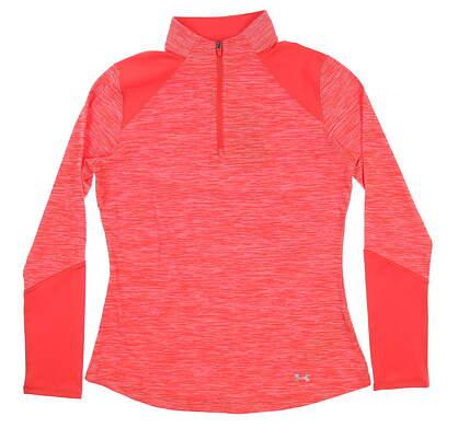 New Womens Under Armour Golf 1/4 Zip Pullover Medium M Red UW1213 MSRP $70