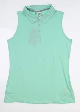 New Womens Under Armour Sleeveless Golf Polo Medium M Green UW1401 MSRP $55