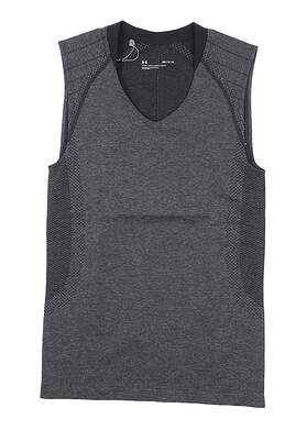 New Womens Under Armour Sleeveless Golf Polo Medium M Gray UW0461 MSRP $55