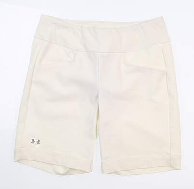 New Womens Under Armour Golf Shorts Medium M White UW6670 MSRP $75