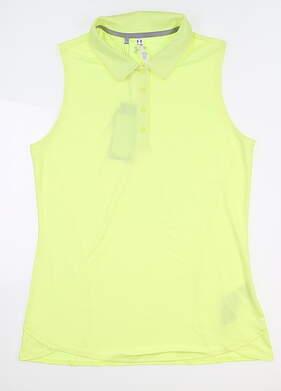 New Womens Under Armour Sleeveless Golf Polo Medium M Yellow UW1401 MSRP $55