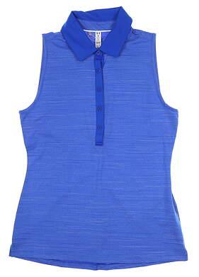 New Womens Under Armour Sleeveless Golf Polo Medium M Blue UW0455 MSRP $60
