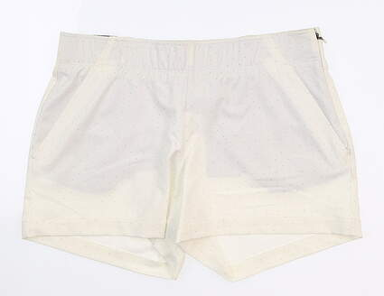 New Womens Under Armour Novelty Shorty Shorts Medium M White UW9163 MSRP $70