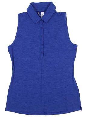 New Womens Under Armour Sleeveless Golf Polo Medium M Blue UW0455 MSRP $55