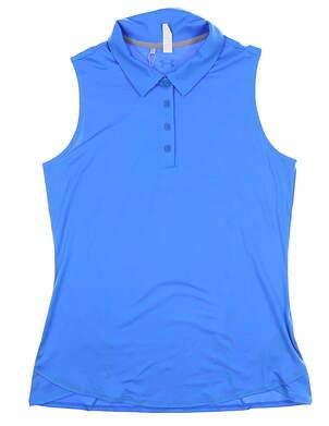 New Womens Under Armour Sleeveless Polo Medium M Blue UW1401 MSRP $55