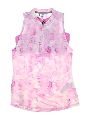 New Womens Under Armour Sleeveless Golf Polo Small S Multi UW1419 MSRP $65
