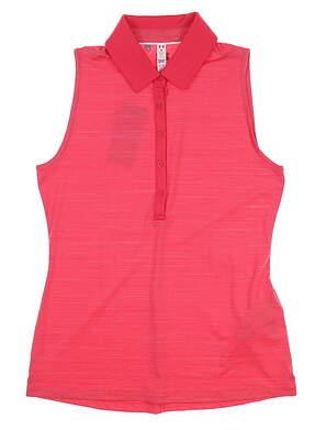 New Womens Under Armour Sleeveless Golf Polo Medium M Pink UW0455 MSRP $60
