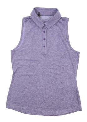 New Womens Under Armour Sleeveless Golf Polo Medium M Purple UW0468 MSRP $55