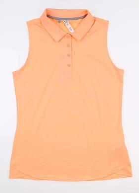 New Womens Under Armour Sleeveless Golf Polo Medium M Orange UW1401 MSRP $55