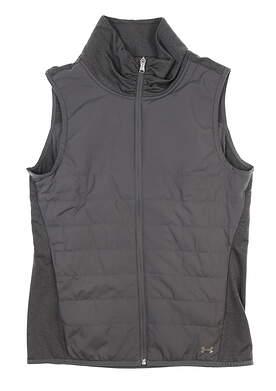 New Womens Under Armour Zone Full Zip Vest Small S Gray UW1716 MSRP $85
