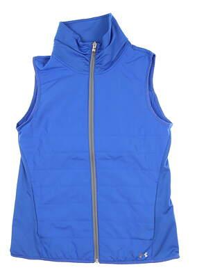 New Womens Under Armour Zone Full Zip Vest Small S Blue UW1716 MSRP $85