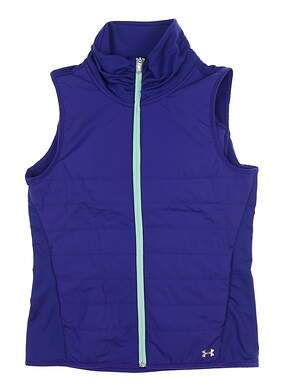 New Womens Under Armour Zone Full Zip Vest Small S Purple UW1716 MSRP $85