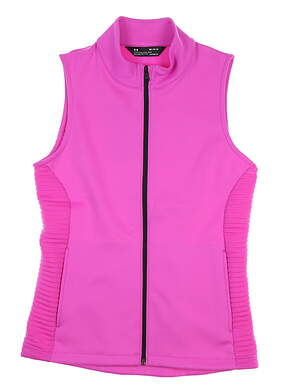 New Womens Under Armour Daytona Storm Vest Medium M Fluo Fuchsia UW1281 MSRP $75