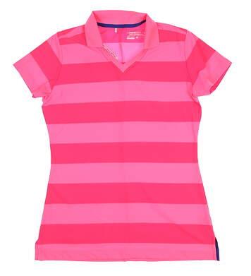 New Womens Nike Golf Polo Medium M Pink MSRP $65
