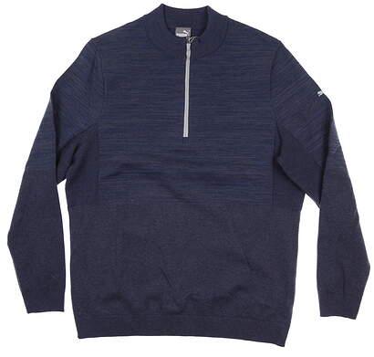 New Mens Puma Evoknit 1/4 Zip Sweater Medium M Quarry Heather 595125 02 MSRP $95