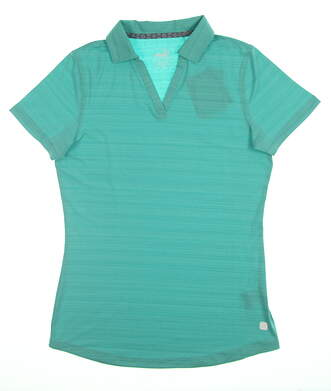 New Womens Puma Coastal Polo Small S Blue Turquoise 595136 04 MSRP $55