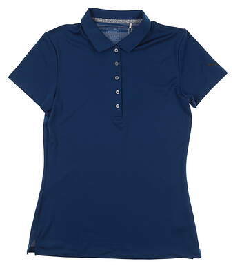 New Womens Puma Pounce Polo Small S Gibraltar Sea 574652 20 MSRP $50