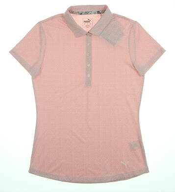 New Womens Puma Swift Polo Small S Bridal Rose 577922 10 MSRP $55