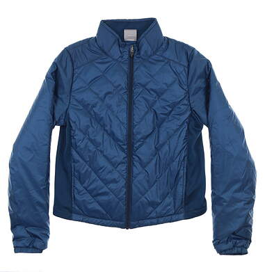 New Womens Puma Quilted Primaloft Jacket Small S Gibraltar Sea 595168 02 MSRP $80