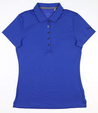 New Womens Puma Pounce Polo Small S Dazzling Blue 574652 24 MSRP $50