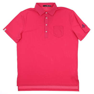 New W/ Logo Mens Ralph Lauren RLX Polo Large L Pink MSRP $89.50