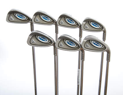 Ping i5 Iron Set 5-PW SW Stock Steel Shaft Steel Stiff Right Handed Black Dot 37.75in
