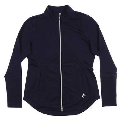 New Womens Jo Fit Vitality Jacket Small S Navy Blue UT183NF-MDN MSRP $140