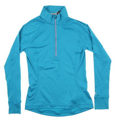 New Womens Puma 1/4 Zip Pullover X-Small XS Blue MSRP $65