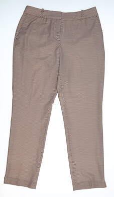 New Womens Fairway & Greene Audrey Golf Pants 8 Brown/White E12285 MSRP $130