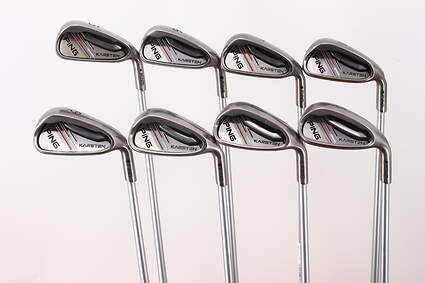 Ping 2014 Karsten Iron Set 5-PW GW SW Ping KS 401 Graphite Regular Right Handed Black Dot 38.5in