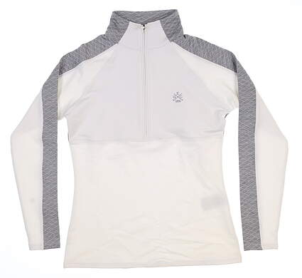 New W/ Logo Womens Footjoy 1/2 Zip Golf Pullover X-Small XS White 27519 MSRP $120