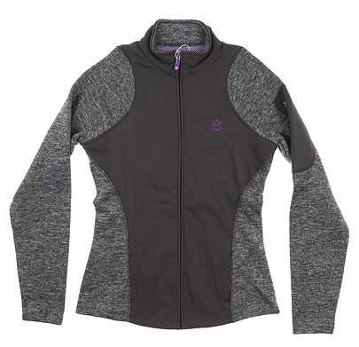 New W/ Logo Womens Footjoy Knit Woven Panels Jacket X-Small XS Charcoal 27518 MSRP $135