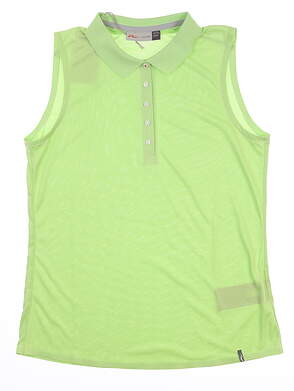 New Womens KJUS Signe Engineered Sleeveless Polo Medium (38) M Green LG60-A00 MSRP $112