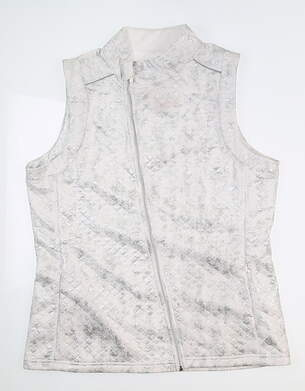 New Womens BETTE & COURT Vest Large L Sterling B18207VM MSRP $88