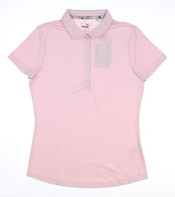 New Womens Puma Swift Polo Small S Pale Pink 577922 03 MSRP $55