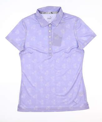 New Womens Puma Burst Into Bloom Polo Small S Sweet Lavender 577920 03 MSRP $60