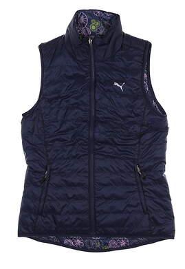 New Womens Puma PWRWARM Reversible Vest Small S Peacoat 573285 07 MSRP $98
