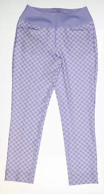 New Womens Puma PWRSHAPE Checker Pants Small S Sweet Lavender 577955 03 MSRP $85