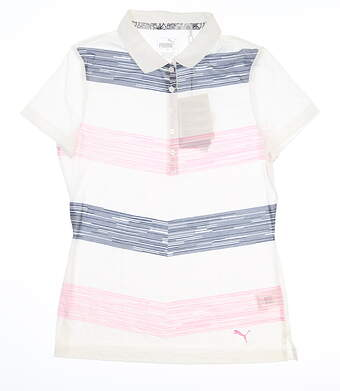 New Womens Puma Race Day Polo Small S Pale Pink 577925 01 MSRP $60