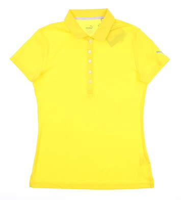 New Womens Puma Pounce Polo Small S Blazing Yellow 574652 15 MSRP $50